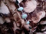Браслет з каменем хризопраз і кварц в сріблі. Браслет з природним хризопразом., фото 4
