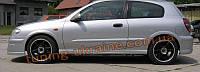 Накладки на пороги для Nissan Almera N16 2000-2006
