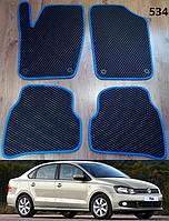 Коврики на Volkswagen Polo '10-н.в. седан. Автоковрики EVA