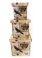 Шкатулка-коробка набор из 3-х – Корона