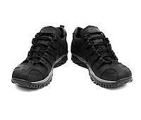 Кроссовки тактические мужские водостойкие кожаные 9д черные, фото 1