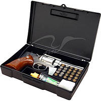 Кейс MTM Handgun Storage Box 804 для пистолета/револьвера с отсеком под патроны (24,9x16,0x5,1 см)