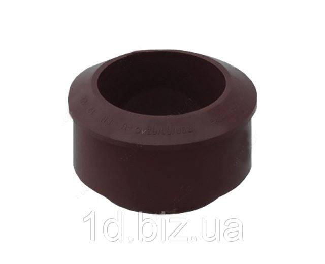 Переходник водосточной системы Бриза (Bryza) 110/90 мм коричневый