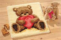 """169538.501 (0011093) Набор для вышивания коврика Vervaco серия Popcorn the Bear """"С любовью"""""""