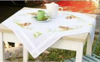 """PN-0154957 Набор для вышивания крестом (скатерть) Vervaco """"Кролик на траве"""""""