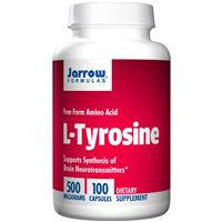L-тирозин, Jarrow Formulas, 500 мг, 100 капсул