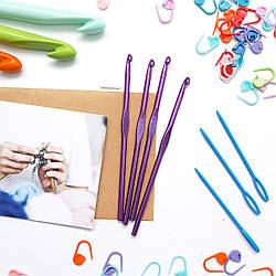 Крючок для вязания цветной, 5 мм