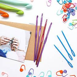 Крючок для вязания цветной, 4,5 мм