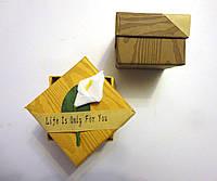 Подарочная коробка под кольцо, серьги с цветком