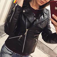 Куртка-косуха женская модная из эко кожи разные цвета Gvv782