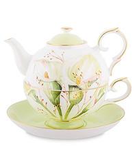 Костяной фарфор Pavone luxury. Чайные наборы и чашки.
