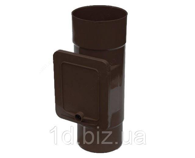 Люк для чистки водосточной системы Бриза (Bryza) 110 мм коричневый