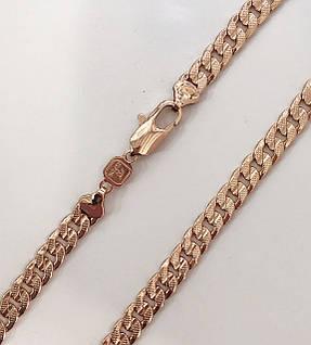 Цепочка плетение Панцирная длина 60 см H-8 мм под советское золото