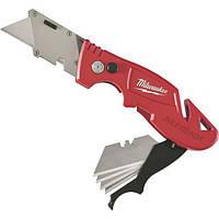 Нож профессиональный складной для трапецивидных лезвий MILWAUKEE Fastback 48-22-1903