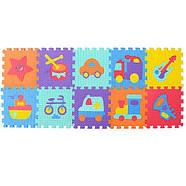 Коврик-мозаика M 3520 веселая мозаика, разноцветные фигурки, фото 2