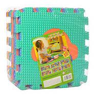 Коврик-мозаика M 3520 веселая мозаика, разноцветные фигурки, фото 3