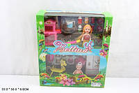 Кукла маленькая, 2 куклы в наборе, мебель, 66789