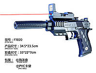 Пистолет, лазер, свет, глушитель, с пульками, 2122-B4