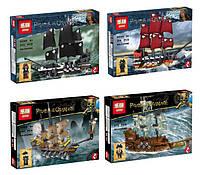 Конструктор Lepin Пираты Карибского моря 03058 Пиратские корабли (аналог Lego Pirates of the Caribbean) 4 вида