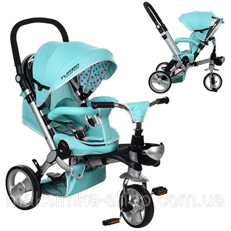 Велосипед M AL3645-14 триколісний колясочка