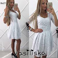 Нарядное кружевное платье ан-180255-4