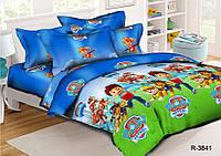 Полуторный комплект постельного белья 150х220 из ранфорса Щенячий Патруль Blue (1.0)