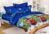 Полуторный комплект постельного белья 150х220 из ранфорса Бурундуки (1.0)
