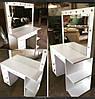 Стол для парикмахера, визажиста с зеркалом с подсветкой ЛЕД лампами, стол визажный, столик туалетный, фото 4