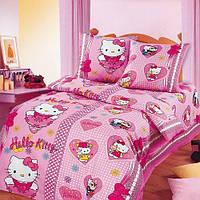Полуторный комплект постельного белья из бязи Тиротекс Китти