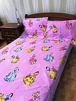 """Полуторный комплект постельного белья  из бязи Тиротекс """"Диснеевские принцессы"""""""