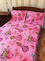 """Полуторный комплект постельного белья  из бязи Тиротекс """"Барби и Пегас"""""""