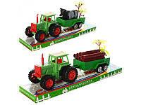 Трактор, инерционный, с прицепом, 25см, 2 вида, 855A-31B-57B