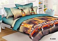 Полуторный комплект постельного белья 150х220 из ранфорса Кабриолет