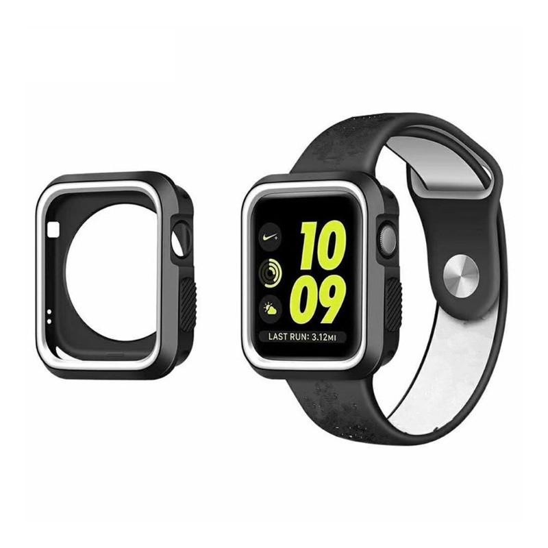 Силиконовый защитный корпус Primo для Apple Watch 38mm - Black / White