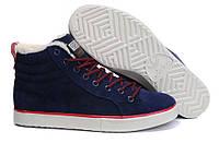 Кроссовки Adidas Ransom Fur на меху мужские темно-синие