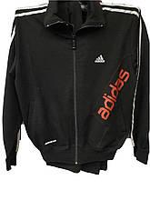Костюм мужской спортивный Adidas черный с красной надписью
