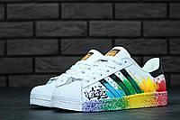 Женские кроссовки Adidas SuperStar(ТОП РЕПЛИКА ААА+)