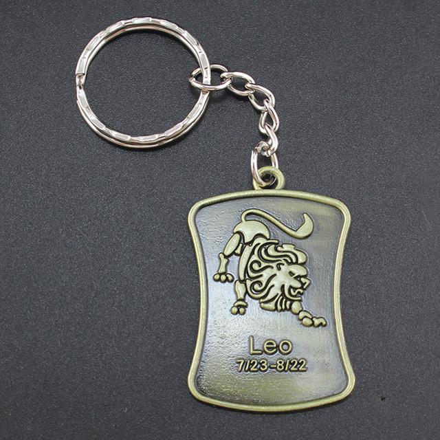 Брелок со знаком Зодиака «Лев» металлический!