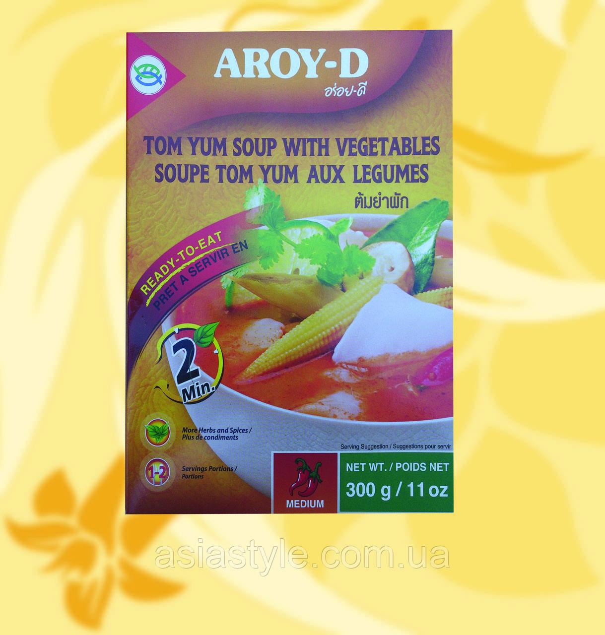 Суп Том Ям з овочами, Aroy-D, 300 г, Мо