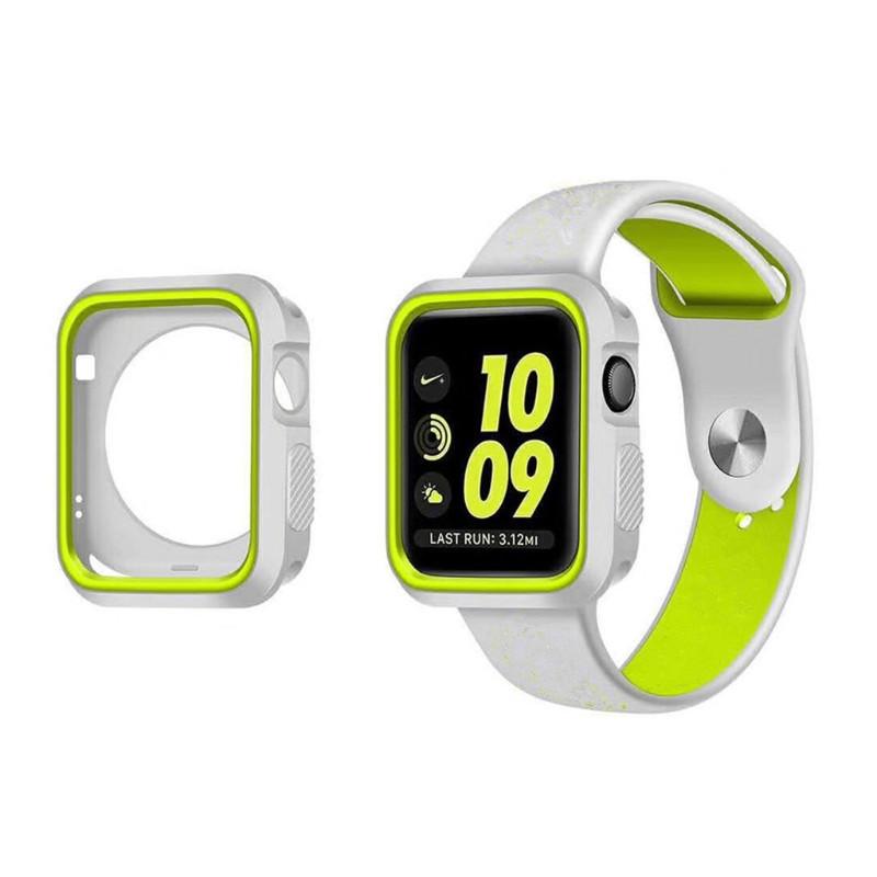 Силиконовый защитный корпус Primo для Apple Watch 42mm - Grey / Yellow