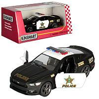 Kinsmart металлическая инерционная машинка Ford Mustang GT, Полиция, Кинсмарт KT5386WP 007107