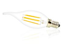 Светодиодная лампа свеча на ветру Filament 4Вт Е14  4000K, фото 1