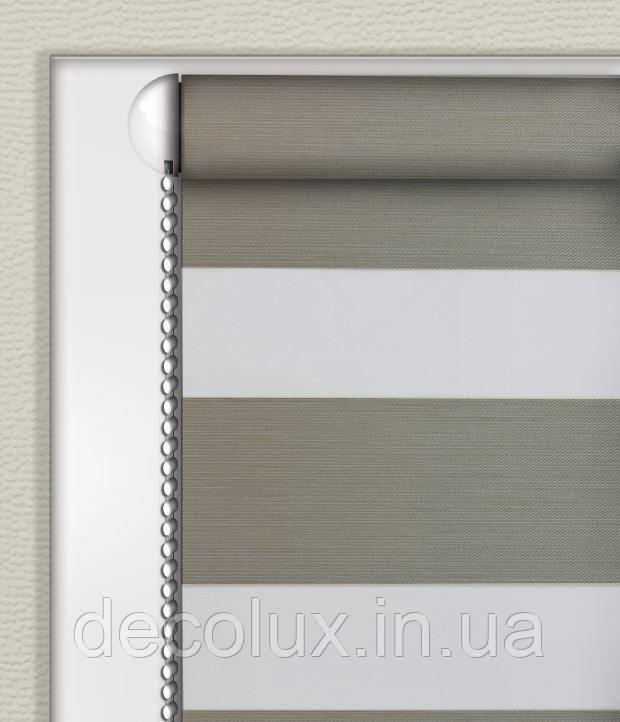 Рулонные шторы День-Ночь Сталь (Блэкаут) ВН-2901