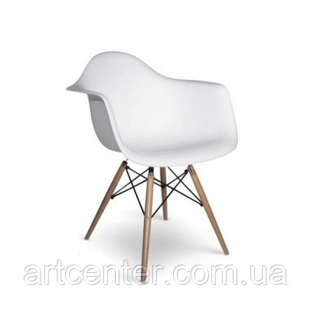Кресло офисное пластиковое белое, кресло для ожидания, кресло садовое (Тауэр Вуд белый)