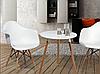 Кресло офисное пластиковое белое, кресло для ожидания, кресло садовое (Тауэр Вуд белый), фото 3