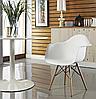 Кресло офисное пластиковое белое, кресло для ожидания, кресло садовое (Тауэр Вуд белый), фото 2