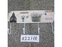 Вешалка настенная декоративная с 4 крючками, 36*10см, R22168