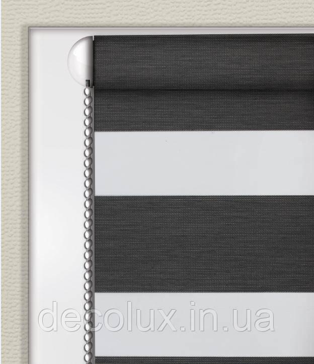 Рулонные шторы День-Ночь Графит (Блэкаут) ВН-2909