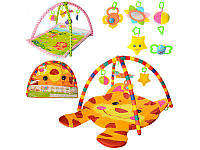Коврик для младенца, две дуги, подвески 5шт, 2вида (100-74см,84-64см), PM406-416