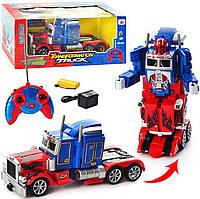 Машина трансформер Оптімус 28128 радіокерований, на акумуляторі, музика, світло, в коробці, 40 см